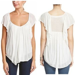 Free People Always and forever flutter sleeve top